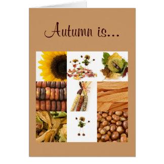 Herbst ist… karte