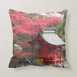 Herbst-japanisches Garten-Foto-Quadrat Kissen