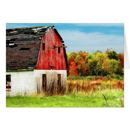 Herbst-Land Mitteilungskarte