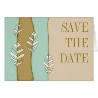 Herbst-Laub Save the Date Notecard Karte