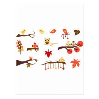 Herbst-Niederlassungen Postkarte