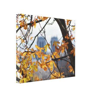 Herbst Paris Notre Dame Leinwanddruck