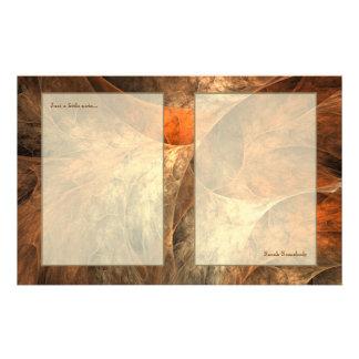 Herbst-Reichtums-Fraktal-Kunst Briefpapier