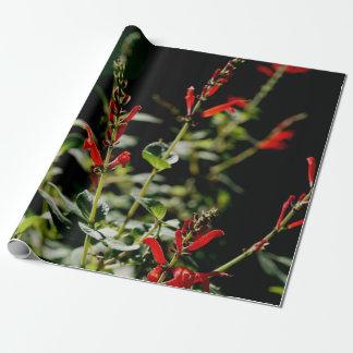 Herbst-rotes Geschenk Wraping Papier Geschenkpapier