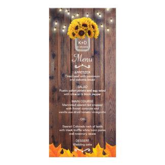 Herbst-Sonnenblume-Glas-rustikales Hochzeit im Werbekarte