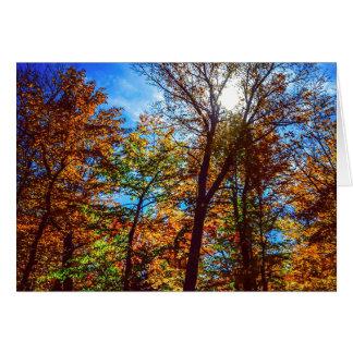 Herbst-Sonnenschein Karte