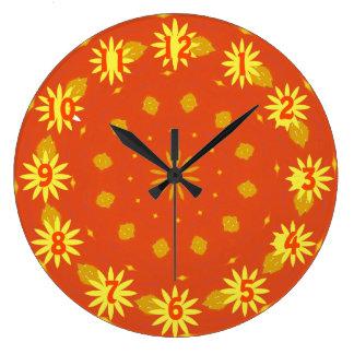 Herbst-Sonnenschein-Uhr Große Wanduhr