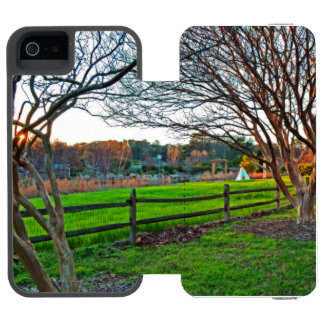 Herbst-Sonnenuntergang durch Shirley Taylor Incipio Watson™ iPhone 5 Geldbörsen Hülle