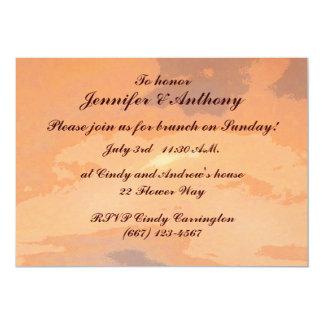 Herbst-Sonnenuntergang-Hochzeits-Brunch 12,7 X 17,8 Cm Einladungskarte