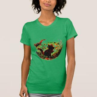 Herbst Squirrels Tierkunst T-Shirt