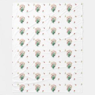 Herbst-Strecken-Blumen-und Schmetterlings-Decke Fleecedecke