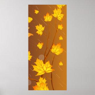 Herbst-Sturm Poster