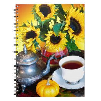 Herbst-Tee-Service Notizblock