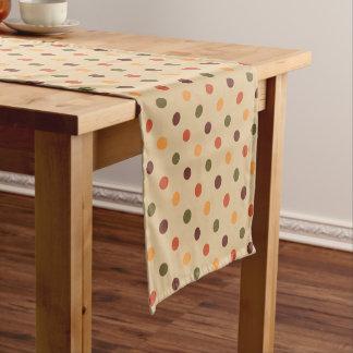 Herbst-Tupfen-Tabellen-Läufer Kurzer Tischläufer
