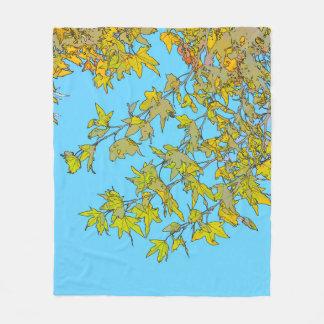 Herbst verlässt abstrakte Fleece-Decke Fleecedecke