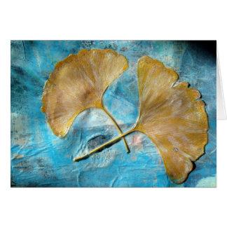Herbst verlässt Collage Grußkarte