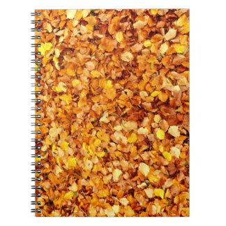 Herbst verlässt Foto-Notizbuch Spiral Notizblock
