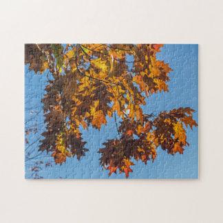 Herbst verlässt Fotopuzzlespiel
