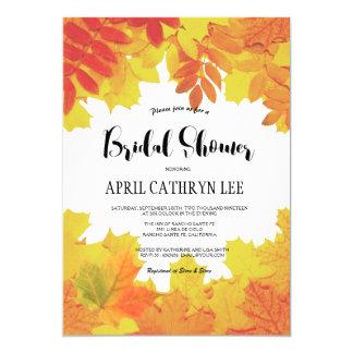 Herbst verlässt Hochzeit im Herbsts-Brautparty 12,7 X 17,8 Cm Einladungskarte
