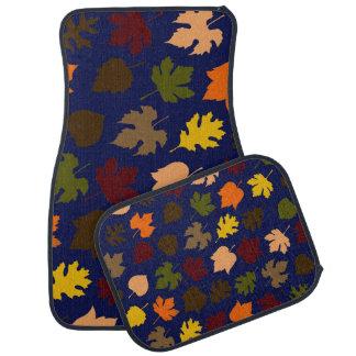 Herbst verlässt Muster Automatte