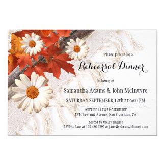 Herbst verlässt Proben-Abendessen-Einladung Karte