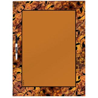 Herbst verlässt Silhouette modernes Muster Trockenlöschtafel