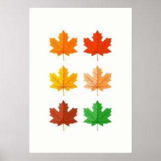 Herbst verlässt Wand-Kunst Poster