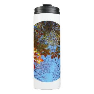 Herbst verlässt Wasser-Flasche Thermosbecher