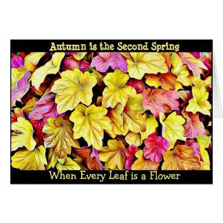 Herbst-Zitat-Herbstlaub-hübsche Saisonkarte Grußkarte