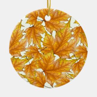 Herbstahorn-Blätter Keramik Ornament