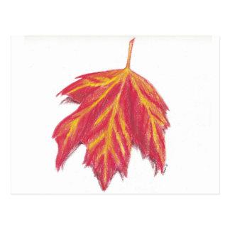 Herbstblatpostkarte Postkarte
