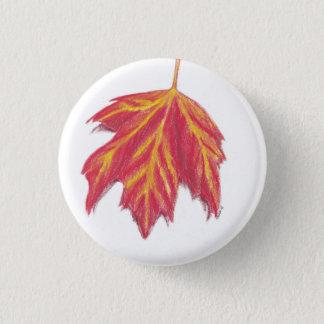 Herbstblatt Runder Button 3,2 Cm