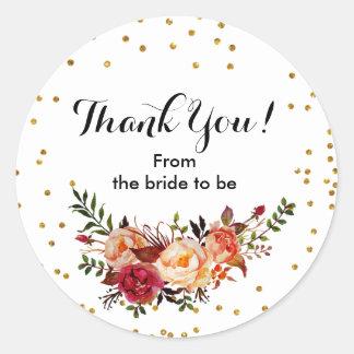 HerbstblumenConfetti danken Ihnen Aufkleber