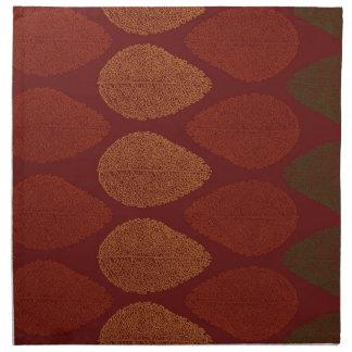 Herbstfarben erinnert serviette
