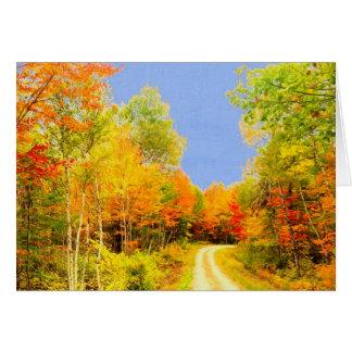Herbstfarben Maine Karte