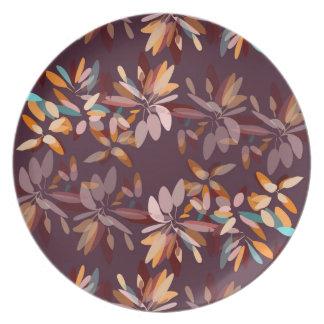 Herbstfarblaubdruck Essteller