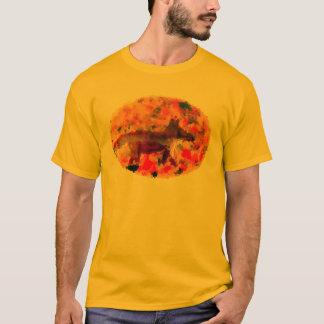 Herbstfox-Kunst T-Shirt