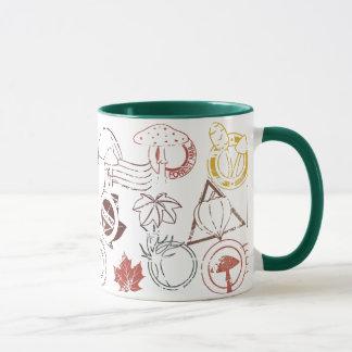 Herbstgummiporto-Briefmarken-Tasse Tasse