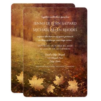 Herbsthinterahorn verlässt rustikale Hochzeit 12,7 X 17,8 Cm Einladungskarte