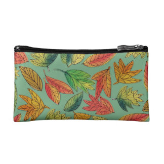 Herbstlaub-Aquarell-Muster-Tasche Kosmetiktasche
