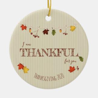Herbstlaub auf Clothesline Keramik Ornament
