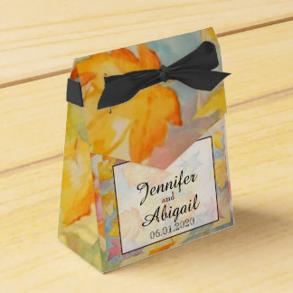 Herbstlaub-Gastgeschenk Hochzeits-Kasten Geschenkschachtel