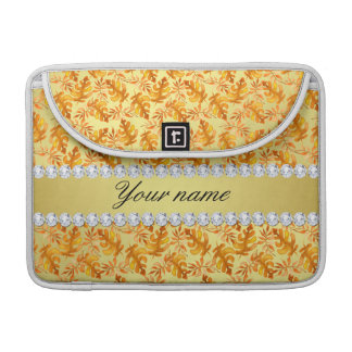 Herbstlaub-Imitat-Goldfolie Bling Diamanten Sleeve Für MacBooks