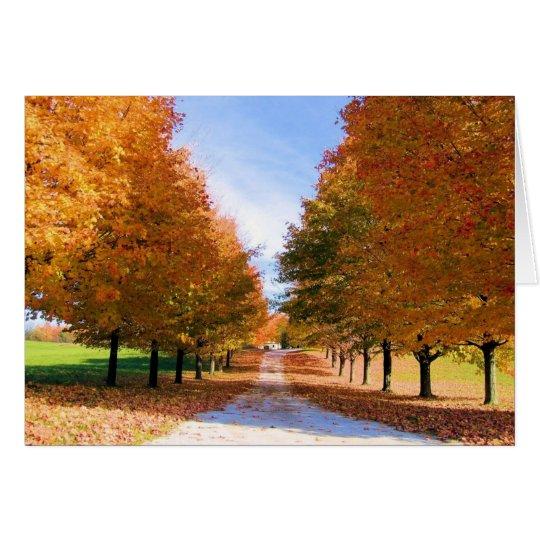 Herbstlaub-Karte Karte