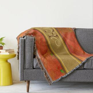 Herbstlaub-Monogrammthrow-Decke Decke