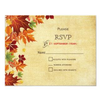 Herbstlaub-rustikale Hochzeit 10,8 X 14 Cm Einladungskarte