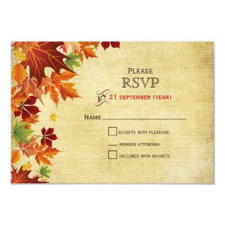 Herbstlaub-rustikale Hochzeit Karte