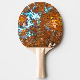 Herbstlaub Tischtennis Schläger