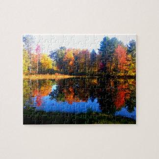 Herbstlaub von Neu-England Puzzlespiel