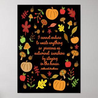 Herbstlicher Sonnenschein Poster